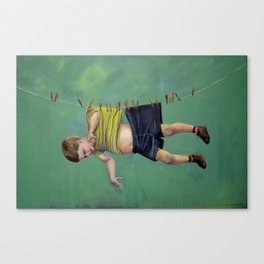 Boy on the Line Canvas Print