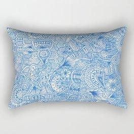 blue zentangle Rectangular Pillow