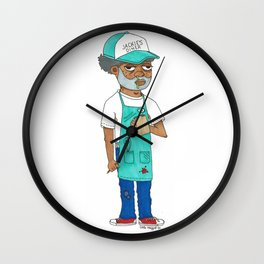 Waiter Ed From Jackie's Diner Wall Clock