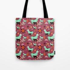 Llama At Dusk pattern Tote Bag