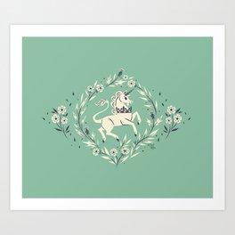 The Stirling Unicorn Art Print