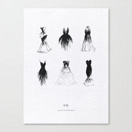 Little Black Dress Collection Canvas Print