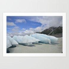 Mt Cook Glacier Art Print