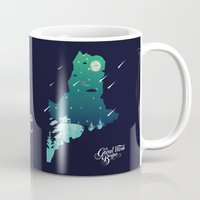 maine Mugs featuring Almost, Maine by Typo Negative