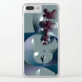 Life sprouting in the silence of an abstract fantasy Clear iPhone Case