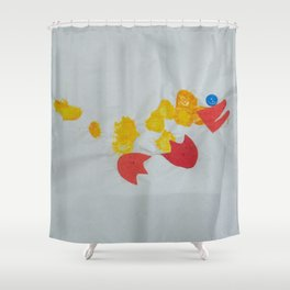 Button Eyed Duck Shower Curtain