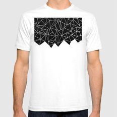 Ab Triangulation SMALL White Mens Fitted Tee