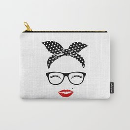 Cool Women Head With Bandana Carry-All Pouch