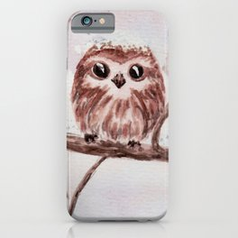 Funny little owl iPhone Case
