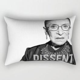 Ruth Bader Ginsburg DISSENT Collar RBG Rectangular Pillow