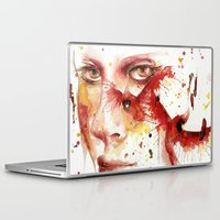 cardinal Laptop & iPad Skins featuring Cardinal  by Chelsea Brouillette