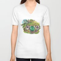 the hobbit V-neck T-shirts featuring Hobbit hole by Kris-Tea Books