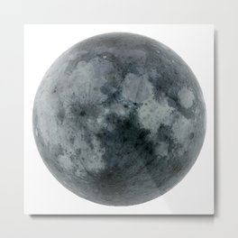 Black full moon Metal Print