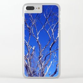 Dead Tree Defiance Clear iPhone Case