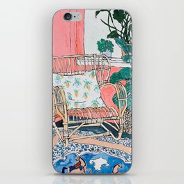 Cane Chair in Pink Interior iPhone Skin