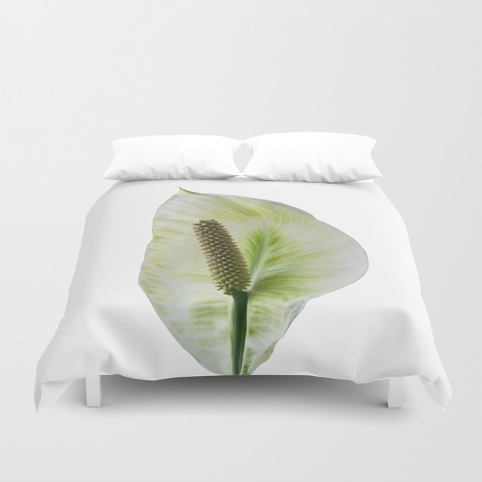 Peace Lily on White #1 #floral #decor #art #society6 Duvet Cover