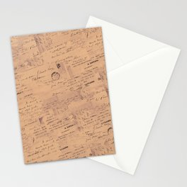 Seamless Ephemera Handwriting Design Stationery Cards