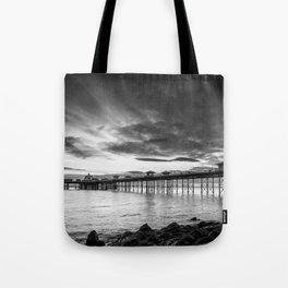 Monochrome Pier Tote Bag