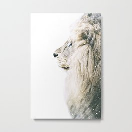 NORDIC LION Metal Print