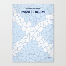 No792 My I Want to Believe minimal movie poster Canvas Print