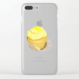 Lemon Cupcake Clear iPhone Case