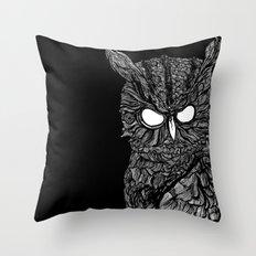 Demon Owl Throw Pillow