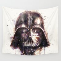 darth Wall Tapestries featuring Darth Vader by beart24