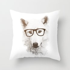 SMART WOLF Throw Pillow
