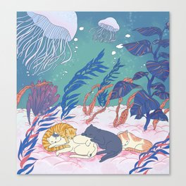 sleeping cats Canvas Print