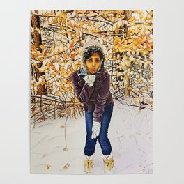 winter kiss Poster