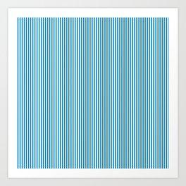 Blue Pinstripes Art Print