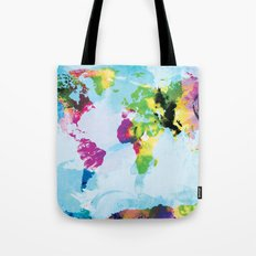 One Colourful World / Blue Tote Bag