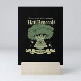 Hail Broccoli Mini Art Print