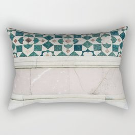 Il Duomo Marble Pattern - Florence Italy Architecture, Travel Photography Rectangular Pillow