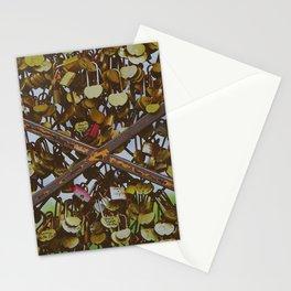 Sempiternal love - Heart shape padlocks of lovers in Paris Stationery Cards