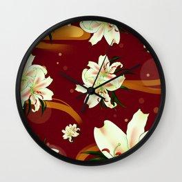 Water Lily Blossom Wonderland Wall Clock