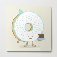 The Birthday Party Donut Metal Print