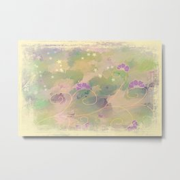 purple flower Texture Metal Print