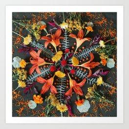 Nature Mandala: July Art Print