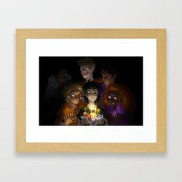 Happy Happy Meal Framed Art Print