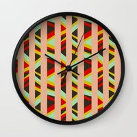 tribal Wall Clocks featuring tribal by sylvie demers