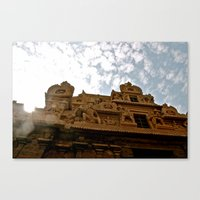 hindu Canvas Prints featuring Hindu Temple by briannagarriott