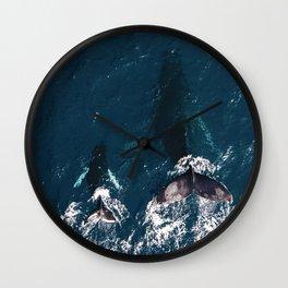 Ocean Family Whales Wall Clock