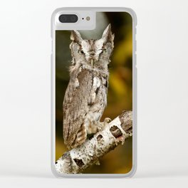 Screech to a halt Clear iPhone Case