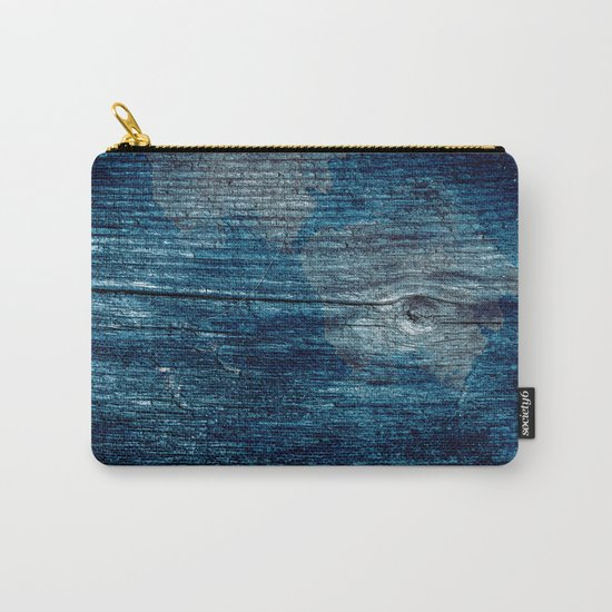 Old painted wood . Carry-All Pouch