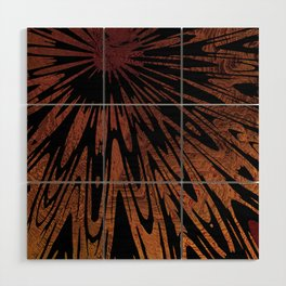 Native Tapestry in Burnt Umber Wood Wall Art