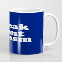 sarcasm Mugs featuring I Speak Fluent Sarcasm by Wanker & Wanker