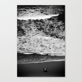 Dad and son pre surf Canvas Print
