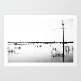 Overflowing lagoon Art Print