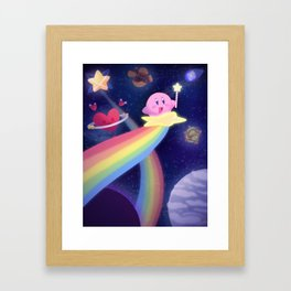 Warping through the Stars Framed Art Print